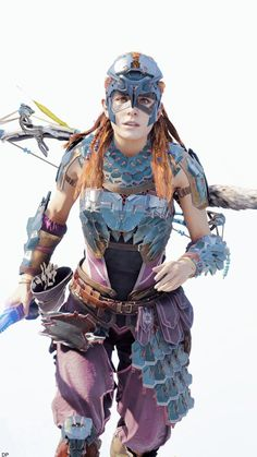 Game Character, Character Design, Character Reference, Fantasy Characters, Female Characters, Horizon Zero Dawn Aloy, Female Pictures, Epic Pictures, Female Armor