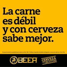 Sazón con Cerveza Alcohol And Drug Abuse, Alcohol Humor, More Beer, Café Bar, Happy Birthday Funny, Make You Believe, Beer Humor, Restaurant, Amor