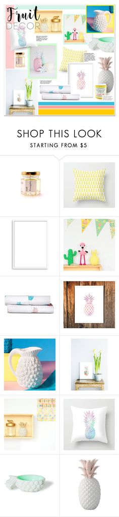 """pineapple DECOR III"" by caroline-brazeau ❤ liked on Polyvore featuring interior, interiors, interior design, home, home decor, interior decorating, Bomedo, Sabrina Soto, Ananas and Hostess"