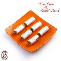 kajoo Pista Rolls with Free Laxmi Ganesh Coin