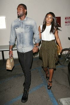 Gabrielle Union - Dwyane Wade and Gabrielle Union Out for Dinner