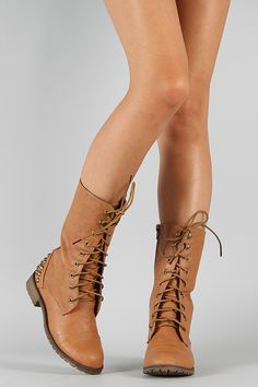 Harley-11 Round Toe Military Lace Up Boot $32.90