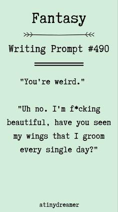 Writing Inspiration Prompts, Writing Prompts Funny, Writing Prompts For Writers, Dialogue Prompts, Story Prompts, Writing Advice, Writing Ideas, Writing Romance, Fiction Writing