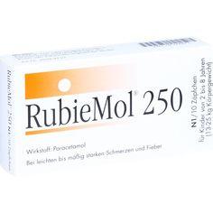 RUBIEMOL 250 Kleinkindersuppositorien:   Packungsinhalt: 10 St Kleinkinder-Suppositorien PZN: 07324473 Hersteller: RubiePharm Vertriebs…