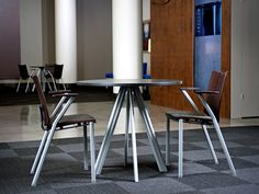 Shouldn't YOUR cafeteria look like this?  Versteel Paces tables perfectly coordinate with their Quanta seating line.