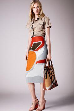 Print top. Burberry Prorsum | Resort 2015 Collection | Style.com