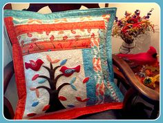 Karen's Quilts, Crows and Cardinals: My Family Tree Pillow Recipe on the Moda Bake Shop !!
