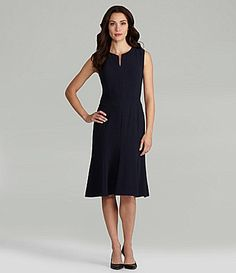 Pendleton SplitNeck Dress #Dillards  Interesting 6-8 piece skirt on this dress. Must try it