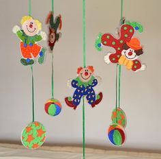 Grand Sewing Embroidery Designs At Home Ideas. Beauteous Finished Sewing Embroidery Designs At Home Ideas. Clown Crafts, Circus Crafts, Carnival Crafts, Carnival Decorations, School Decorations, Clown Party, Diy And Crafts, Crafts For Kids, Paper Crafts