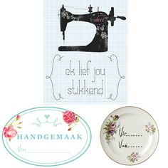 Plakkers vir jou pakkies - Idees Sewing Projects, Projects To Try, 3doodler, 1000 Life Hacks, Decorating Ideas, Craft Ideas, Afrikaans, South Africa, Free Printables