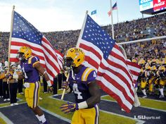 American pride. #LSU Tiger pride.