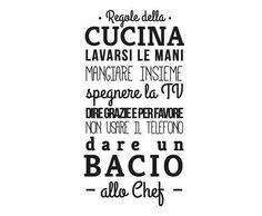 "Wallsticker ""Regole della Cucina"" nero 45 x 95 cm Rustic Kitchen Design, Kitchen Designs, Italian Quotes, Love Home, Interior Design Tips, Home Living, Kitchen Styling, Texts, Sweet Home"