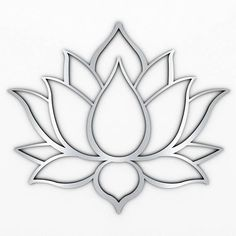 XL Lotus Flower Metal Wall Art with Brushed Metal Finish (measures 48 x Marked by crisp modern lines that only a laser can create, this sacred design is precision cut from high grade stainless steel thats both durable and lightweight.Lotus flowers me Metal Sculpture Artists, Metal Sculpture Wall Art, Contemporary Sculpture, Tree Sculpture, Metal Sculptures, Contemporary Decor, Modern Art, Sculpture Ideas, Abstract Sculpture