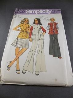 Vintage Simplicity 5800 Pattern Vest Skirt and pants Size 12