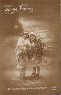 Vintage French Christmas Postcard 1912 by Vintage Lulu, via Flickr
