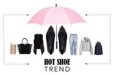 """""""#anklewrapflats"""" by tzortziadel ❤ liked on Polyvore featuring Melissa, Topshop, H&M, Velvet by Graham & Spencer, Valentino, Charlotte Tilbury, Leighton and anklewrapflats"""