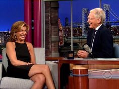 David Letterman grills Hoda on her drinking habits