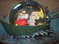 Disneys Rescuers Down Under Water Globe 30th Anniversary Edition Collectible | eBay