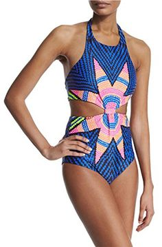 6540b661be New Oops Style Womens Tropical Tribal Starbasket Knot Front Padded One  Piece Swimsuits online. Find the perfect Aleumdr Swimsuit from top store.