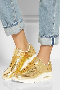 !!!!!!!!!!!!!!!!!!!!!!!!!  Nike | Air Max metallic leather sneakers | NET-A-PORTER.COM