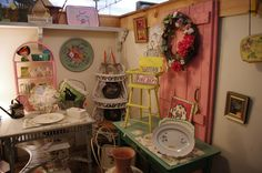 I love antique malls, flea markets and museums.  They all make me feel connected to the past.
