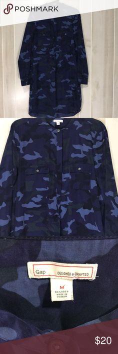 Camo dress Ladies dress. Navy blue black and grey camo GAP Dresses
