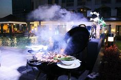 BBQ by the pool on a hot summer night in the city? Yes! Only at #QuestHotelCebu  PhP 500 net per person  6PM to 10PM Saturdays| 7th Floor Pool Side  #HELLOSUMMER  #CoolCleanComfy