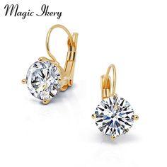 Geometric Shaped Clear Circle earrings