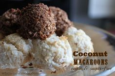 coconut macaroons, (GF, egg free)
