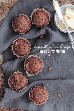 Coconut Flour Apple Carrot Muffins