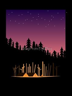 Camping out in the great outdoors in a pup tent with your friends around a campfire, under the stars in the summer time. Under The Stars, Absolutely Stunning, The Great Outdoors, Summer Time, Vector Art, Tent, Pup, Digital Art, Camping