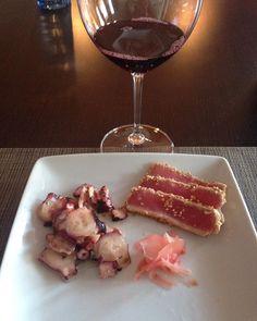 #tuna#tataki#octopus#salad#redwine#yes#notmexico#butalwaysgood#fresh#products#fish#seefood#mylife#sogood  by zaza22229