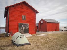 Snapshots From a 10,000-Kilometer Bike Ride - Camping Next to Boat Houses in Northern Sweden