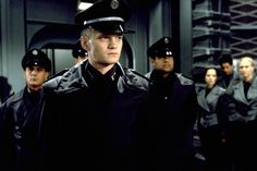"""Neil Patrick Harris' memorable movie role from """"Starship Troopers. Science Fiction, Starship Troopers Cast, David Burtka, Neil Patrick Harris, Jim Parsons, Magic The Gathering Cards, Denise Richards, Sci Fi Movies, David Tennant"""
