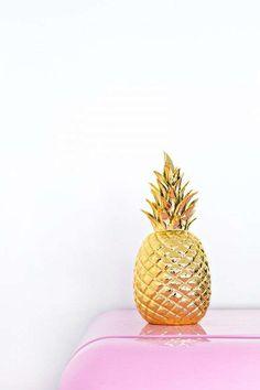 Ananas tendenza arredamento 2016 - Ananas dorato