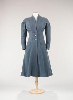 """""""Handsome is"""" wool coat by Elizabeth Hawes, c. 1948"""