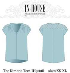 Kimono Tee from In-House Patterns (designed for D cup!). Not crazy about that lacy fabric inset on upper back...