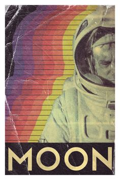 Moon (2009) - poster by Trevor Dunt