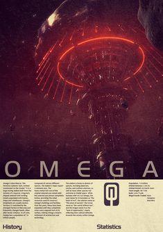 Mass Effect Omega Vintage Poster by Titch-IX.devianta... on @DeviantArt