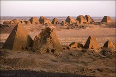 Nubia. The number of pyramids in ancient Nubia (aka Kush & today Sudan) were a total of 223, (Kerma, Napata, Nuri, Naga, and Meroe), double the pyramids of its neighbor Egypt. The underground graves of the Nubian pyramids were richly decorated. All pyramids were not monuments of kings is evinced by their great number.