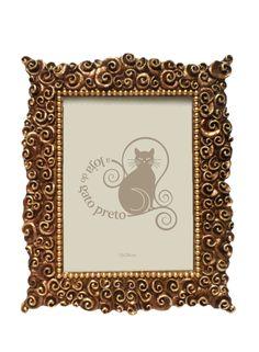 A Loja do Gato Preto | Moldura Arabescos Antique Gold #alojadogatopreto