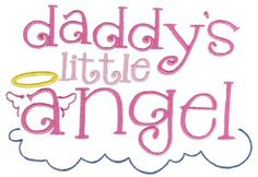 Bunnycup Embroidery   Free Machine Embroidery Designs   Dear Daddy {boy and girl designs} SET or individual designs