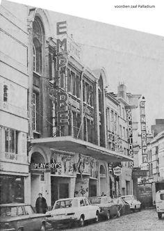 """Cinema """"Empire"""" voorheen zaal Palladium in de Appelmansstraat iets verder """"Cinemarama"""" voordien """"Anvers Palace"""", jaren 1970.."""