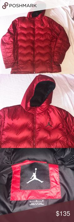 94306509e995 Air Jordan red men s L Puffer jacket Jordan L men s red puffer jacket that  is in excellent condition Jordan Jackets   Coats Puffers