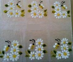 adesivos para unhas flores