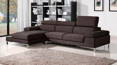 Kalypso 3-Seater Fabric Sectional | Zuri Furniture