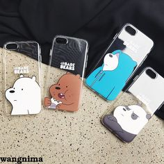 We Bare Bears Ice Bear/Grizzly Phone Case Cover For Iphone