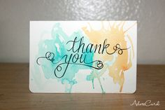 DIY Simple Thank You Cards
