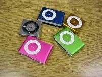 7/26/12:  Daily 5 - Teacher records themselves reading books and uploads it to an mp3 player to use for Listen to Reading