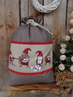 Personalised Christmas Reindeer Sweater Green Christmas Stocking Gift Bag